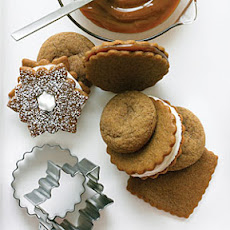 Ice Cream Gingersnap Sandwiches