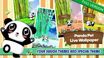 Screenshot of Panda Pet Live Wallpaper Free