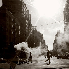 by Shannon Carpenter Baum - City,  Street & Park  Street Scenes