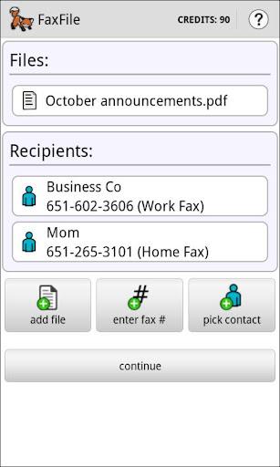 FaxFile - Send Fax from phone - screenshot
