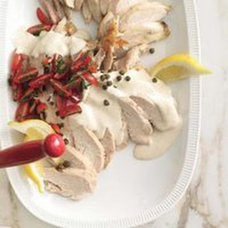 Rotisserie Chicken Tonnato with Tomato Salad