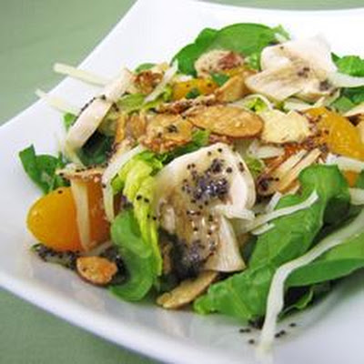Sugar Toasted Almond Spinach Salad