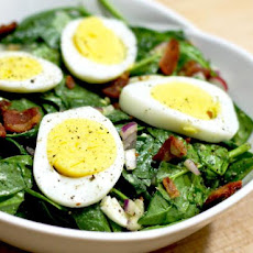Wilted Spinach Salad with Bacon Dressing