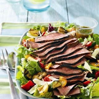 STEAK AND GRILLED RATATOUILLE SALAD