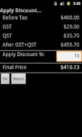 Screenshot of QST Calculator (Free)
