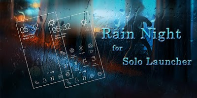 Screenshot of Rain Night Icons & Wallpapers