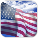3D US Flag + icon