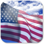 3D US Flag icon
