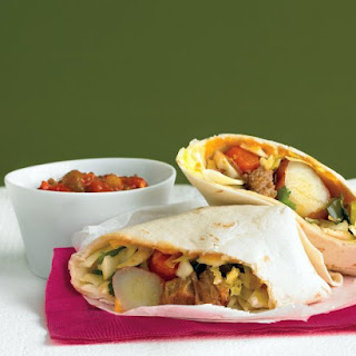 Pork and Cabbage-Slaw Burritos