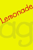 Screenshot of Lemonade FlipFont