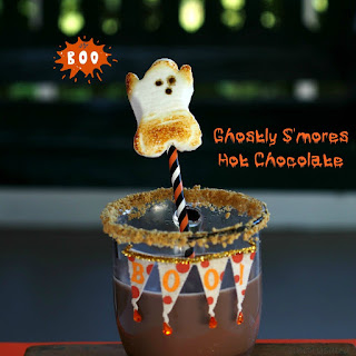 Ghostly S'mores Hot Chocolate by Simply Sated