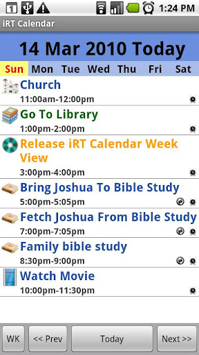 iRT Calendar for Android 1.5
