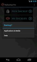 Screenshot of My Backup Pro