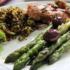 Greek Olive and Asparagus Saute