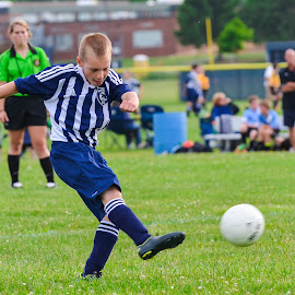 Ripping a shot  by Keith Kijowski - Sports & Fitness Soccer/Association football ( trev )