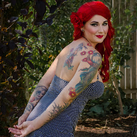 by Steve Nielsen - Nudes & Boudoir Boudoir ( red hair, outdoor photography, tattoos, boudoir, redhead, pinup, tattoo )
