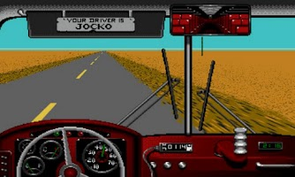 Screenshot of Desert Bus