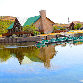 Boat House Reflections by Kathy Suttles - Buildings & Architecture Other Exteriors