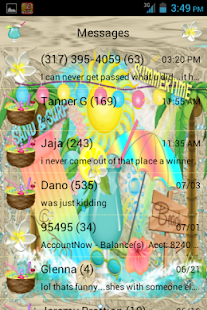 Beach Life GO SMS THEME - screenshot