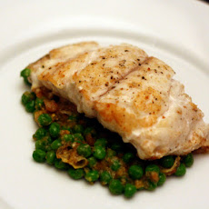 Grouper with Peas and Saffron (Mero en Amarillo)