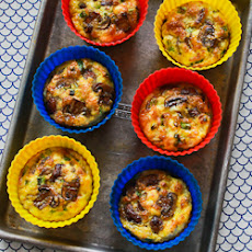 Baked Mini-Frittata Recipe with Mushrooms, Cottage Cheese, and Feta (Phase One, Low-Carb, Gluten-Free)