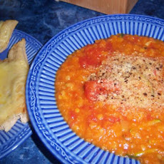 Red Lentil and Tomato Soup