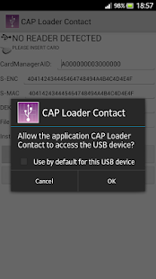 CAP Loader Contact - screenshot