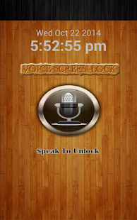 Voice Screen Lock - screenshot