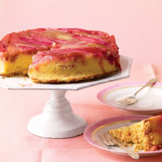 Rhubarb Upside-Down Cake
