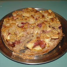 Pear and Fig Pie with an Oatmeal and Almond Crust