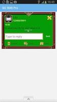 Screenshot of GO SMS Golden Vintage Green