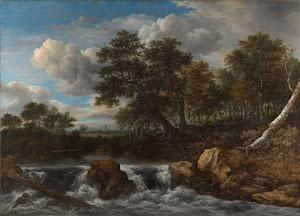 RIJKS: Jacob Isaacksz. van Ruisdael: Landscape with Waterfall 1668