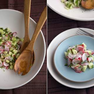 Hot Radish And Japanese Cucumber Salad