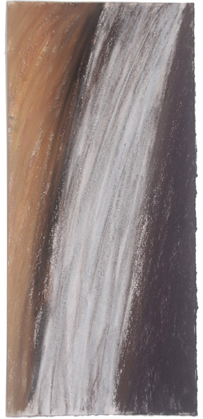 Waterfall #3 <br> Pastel, watercolor on paper <br> 22 x 10.5 in