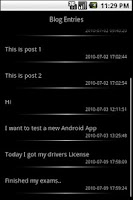 Screenshot of Pocket Blog (beta)