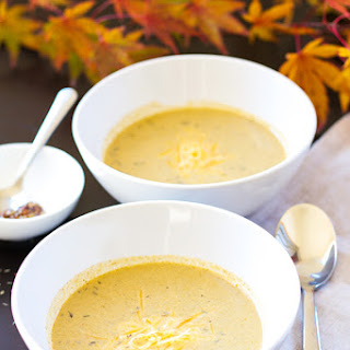 Roasted Broccoli and Smoked Cheddar Soup