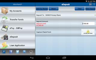 Screenshot of Jefferson Financial CU Mobile