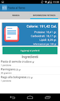 Screenshot of Diario Alimentare