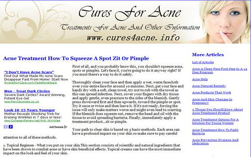 【免費健康App】Cures 4 Acne-APP點子