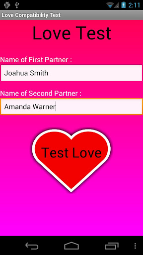 Love Compatibility Test