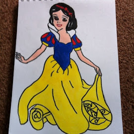 Snow white by Kelly Robinson - Painting All Painting