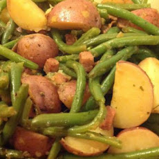 New Potatoes with Green Beans, Country-Style