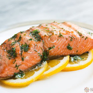 Grilled Salmon with Dill Butter