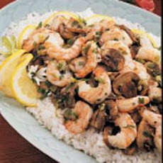 Stir-Fried Shrimp and Mushrooms