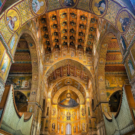 Monreale by Gabriel Catalin - Buildings & Architecture Places of Worship ( monreale, ceiling, norman cathedral, palermo, sicily )