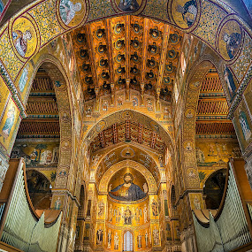 Monreale by Gabriel Catalin - Buildings & Architecture Places of Worship ( monreale, ceiling, norman cathedral, palermo, sicily, Architecture, Ceilings, Ceiling, Buildings, Building )