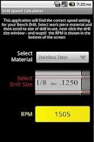 Screenshot of Drill Tool Imperial