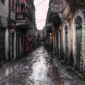 silent city by Khuloud Elzwai - City,  Street & Park  Street Scenes