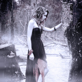 by Studio Cain - People Fine Art ( girl, fog, wet, rain, swamp )