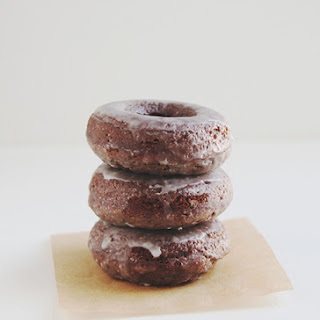 Baked Glazed Chocolate Donuts